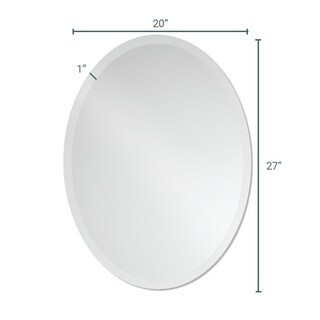 Frameless Beveled Oval Wall Mirror by The Better Bevel (4 options available)