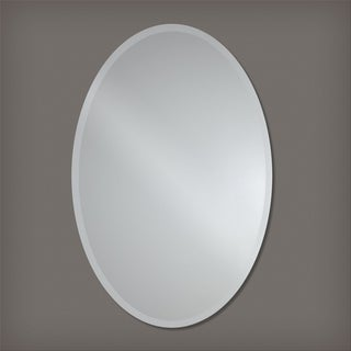 The Better Bevel Frameless Beveled Oval Wall Mirror