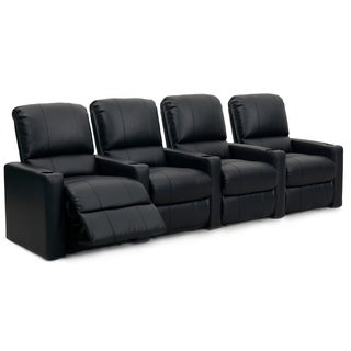 Octane Charger XS300 Manual Leather Home Theater Seating (Row of 4)
