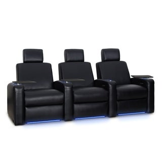 Octane Viper XL500 Power Leather Home Theater Seating Set (Row of 3)