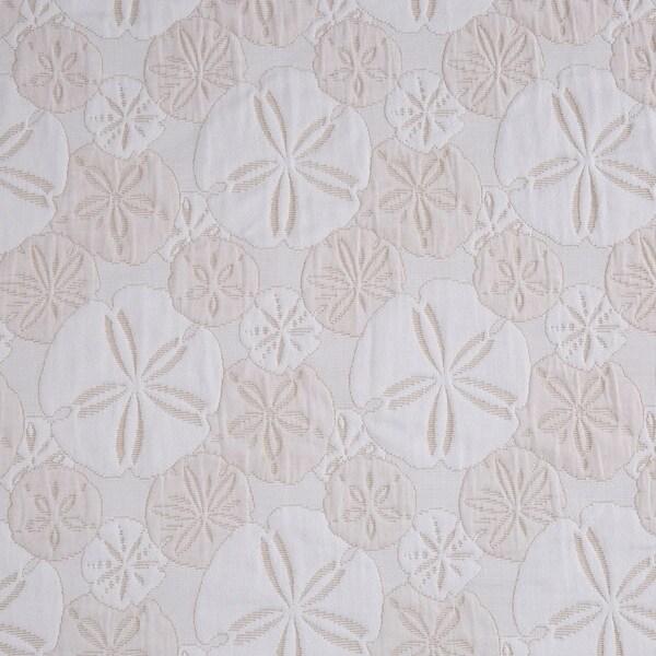 LaMont Home Sanibel Isle Matelasse Shower Curtain Nautical Blue Sand Dollar