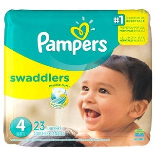 Pampers Size 4 Swaddlers Diapers 23 count