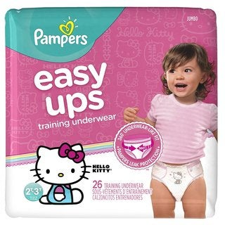 Pampers Girls 2T-3T Size 4 Easy Up 26 count