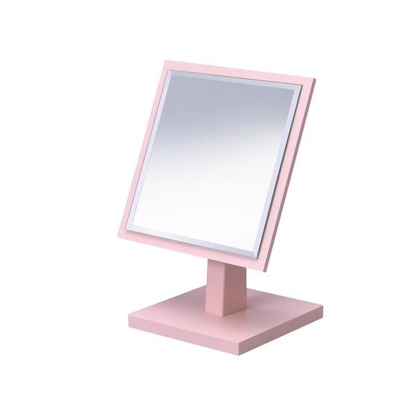Shop Ore International Square Pink Frame Beveled Vanity Pedestal ...