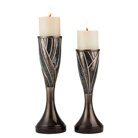 Ore International Lelei Home Décor Floral Candleholder (Set of 2)