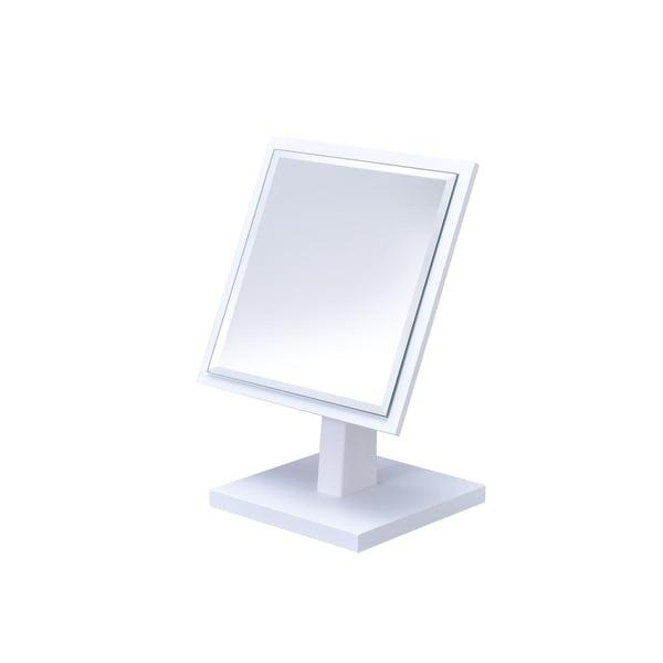 Shop Ore International Square White Frame Beveled Vanity Pedestal ...