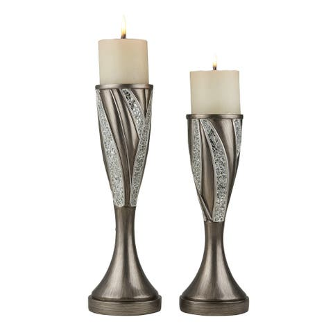 Ore International Kairavi Home Décor Sylish Candleholder (Set of 2)