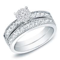 Auriya 14k Gold 1 1/4 ct TDW Diamond Bridal Ring Set - White H-I