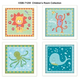 """Children's Room"" Collection By Annie LaPoint, Printed Wall Art, Ready To Hang Framed Poster, White Frame"
