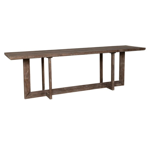 Roanoke 118 Inch Reclaimed Pine Gathering Table By Kosas Home Brown