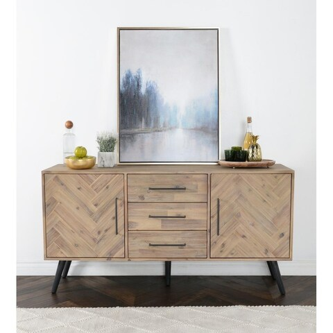 Clyde Mid-Century Solid Wood Cabinet by Kosas Home