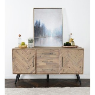 Clyde Mid-Century Solid Wood Cabinet by Kosas Home (Option: Beige)