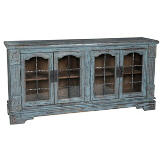 Porter Antique Teal Reclaimed Pine Cabinet by Kosas Home