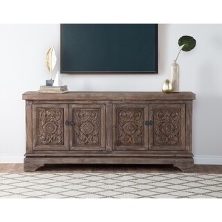 Allen Rustic Brown Reclaimed Pine 82-inch Sideboard by Kosas Home