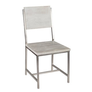 Darren White Washed Solid Wood Chair by Kosas Home