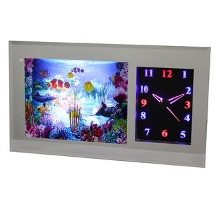 Scenery Motion Lamp with LED Clock