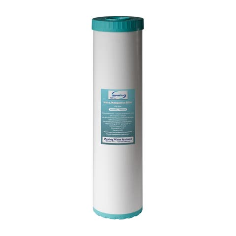 "iSpring Iron Manganese Reducing Big Blue High Capacity Replacement Water Filter - 4.5"" x 20"" - FM25B"