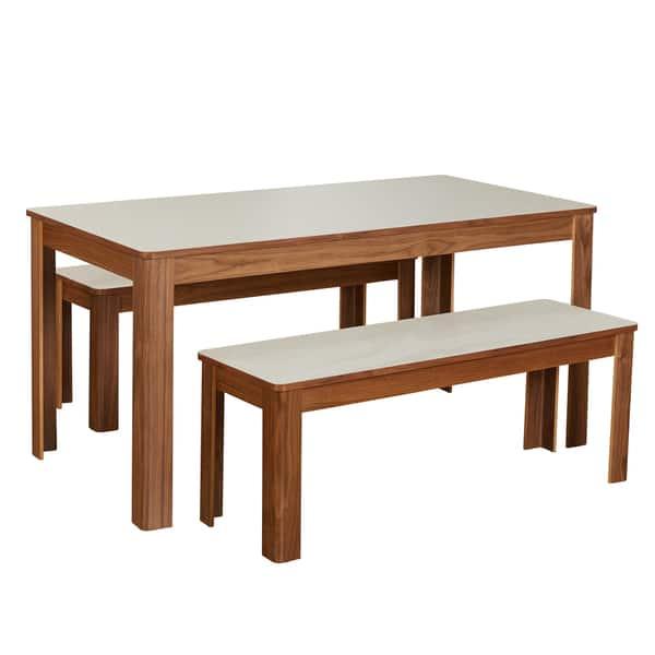 Marvelous Shop Simple Living Dex 3 Piece Breakfast Table And Bench Set Machost Co Dining Chair Design Ideas Machostcouk