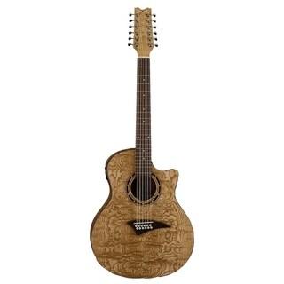 Dean Exotica Quilt Ash Acoustic/Electric 12 String Guitar - GN