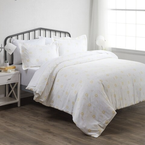 Merit Linens Premium Ultra Soft 3 Piece Spring Vines Print Duvet Cover Set