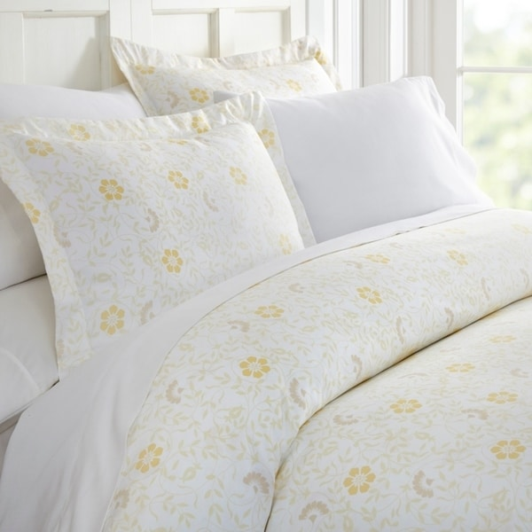 Merit Linens Premium Ultra Soft 3 Piece Spring Vines Print Duvet Cover Set