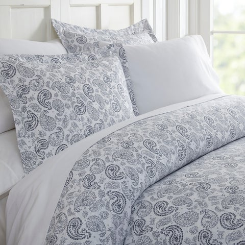 Merit Linens Premium Ultra Soft 3 Piece Coarse Paisley Print Duvet Cover Set