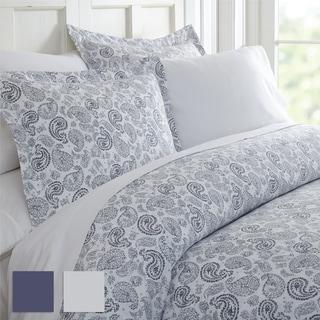 Merit Linens™ Premium Ultra Soft 3 Piece Coarse Paisley Print Duvet Cover Set