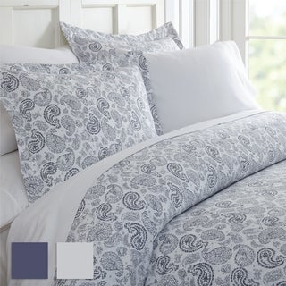 Merit Linens Premium Ultra Soft 3 Piece Coarse Paisley Print Duvet Cover Set (More options available)