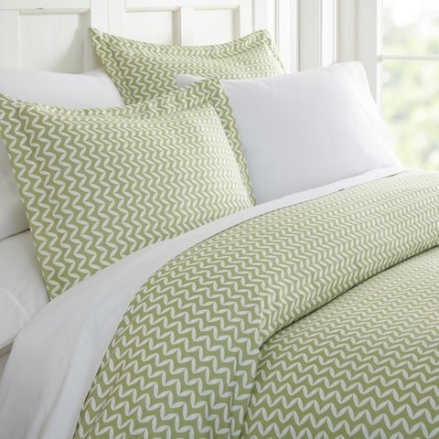 Merit Linens Premium Ultra Soft 3 Piece Puffed Chevron Print Duvet Cover Set