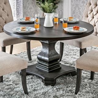 circular furniture. Furniture Of America Lucena Antique Black Wood Traditional Farmhouse-style Pedestal-base Round Dining Circular