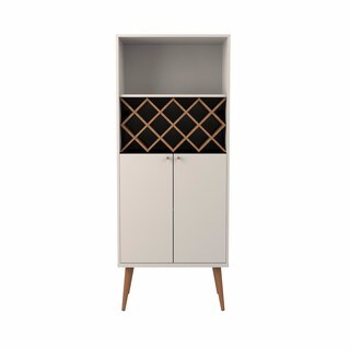 Manhattan Comfort Utopia 10-bottle Wine Rack and China Storage Closet with 4 Shelves