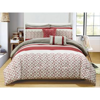 RT Designers Collection Carteret Embroidered 5-Piece Comforter Set