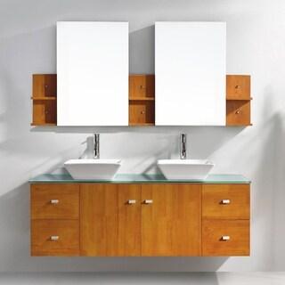 Clarissa 61-in Double Bathroom Vanity Set
