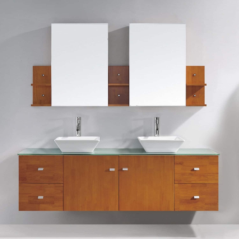 Virtu USA Clarissa 72-inch Double Bathroom Vanity Set wit...