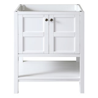 Virtu USA Winterfell 30-inch Solid Wood Cabinet Only