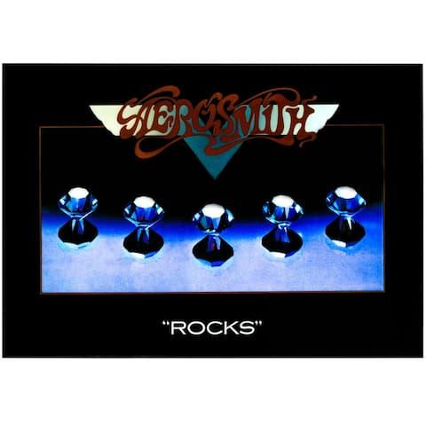 """American Art Decor Aerosmith """"Rocks"""" Framed Album Cover Poster Print"""