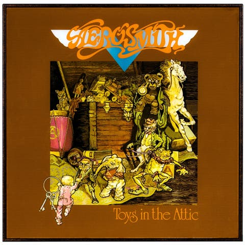 "American Art Decor Aerosmith ""Toys in the Attic"" Framed Album Cover"