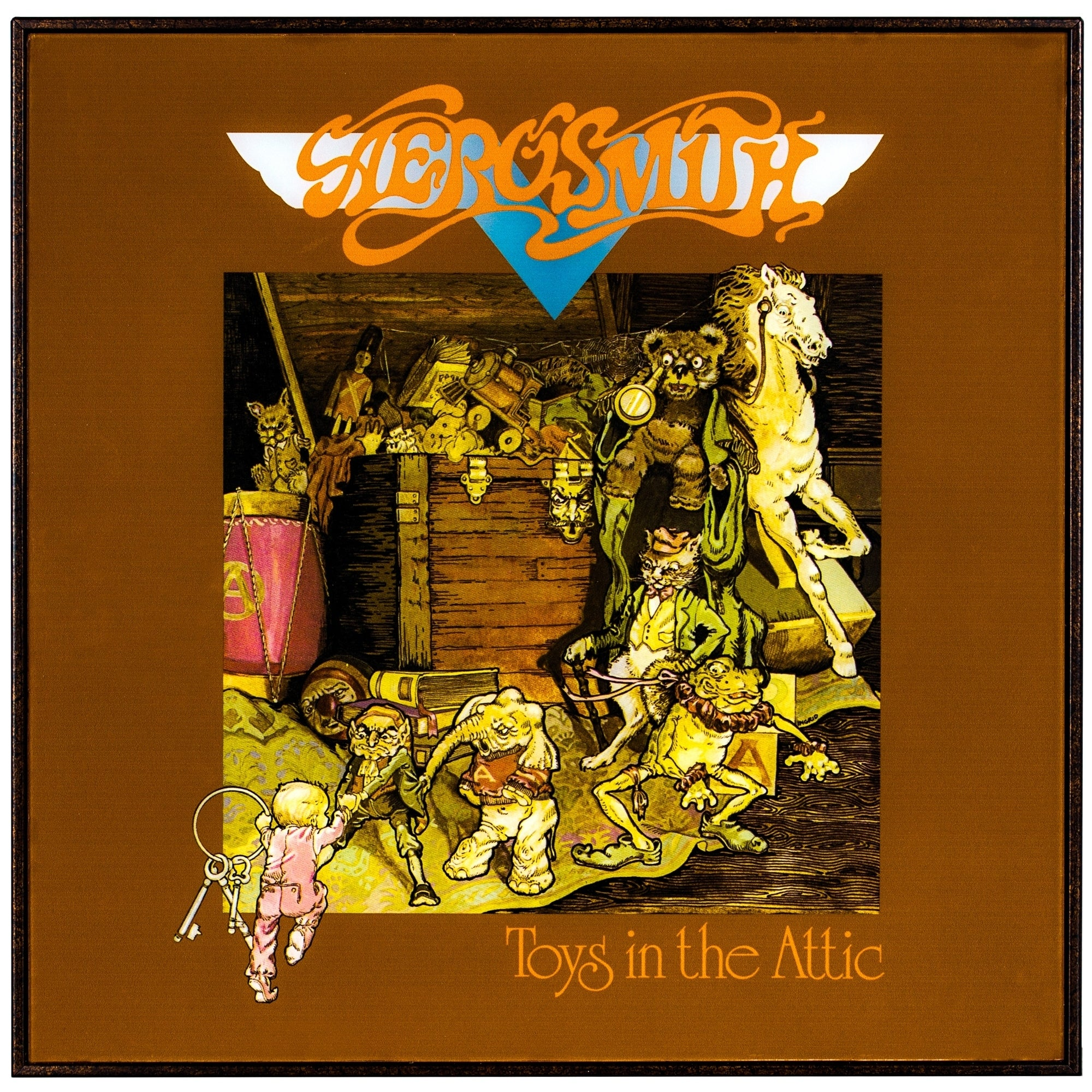 "Aerosmith ""Toys In The Attic"" Framed Album Cover"