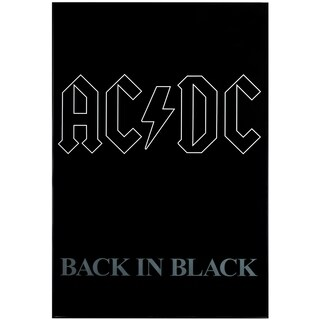 "AC/DC ""Back in Black"" Album Cover Poster Print"