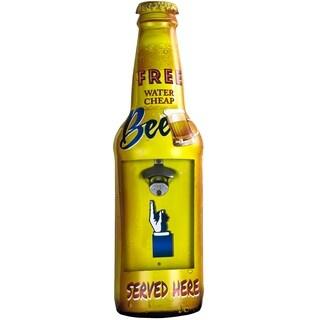 """""""Free Beer Served Here"""" Metal Bottle Opener"""