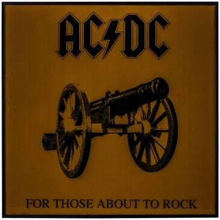 """Link to American Art Decor AC/DC """"About to Rock"""" Framed Album Cover Wall Art Similar Items in Specialty Material Art"""