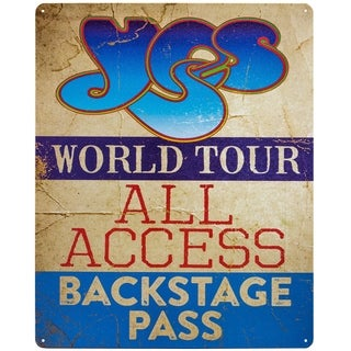 Yes World Tour Textured Metal Sign Wall Art