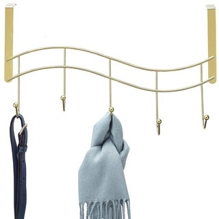 Better Houseware Over Door Hook Rack Plated, Brass
