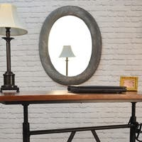 Emma Oval Antique Pewter Frame Mirror
