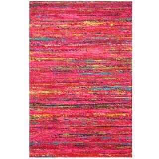 Herat Oriental Indo Hand-tufted Chenille Flatweave Contemporary Rug (1'6 x 2') - 1'6 x 2'
