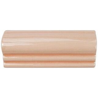 SomerTile 2.125x5.125-inch Nove Canela Moldura Ceramic Wall Trim Tile (6/Pack)