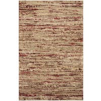 Handmade Herat Oriental Indo Chenille Flatweave Contemporary Rug (India) - 1'6 x 2'