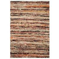 Herat Oriental Indo Hand-tufted Chenille Flatweave Contemporary Rug (1'6 x 2') - Beige - 1'6 x 2'