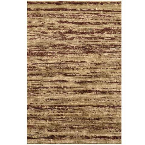 "Handmade Herat Oriental Indo Chenille Flatweave Contemporary Rug (India) - 1'6"" x 2'"
