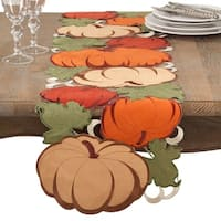 Cutout Embroidered Thanksgiving Pumpkin Table Runner